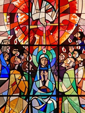 Pentecost stain glass