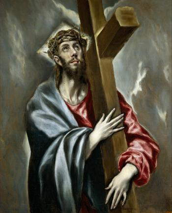 Christ embracing the cross (El Greco)